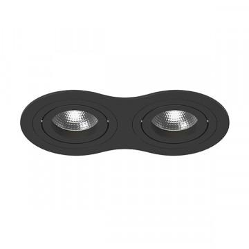 Встраиваемый светильник Lightstar Intero 16 i6270707, 2xGU10x50W, черный, металл