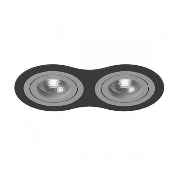 Встраиваемый светильник Lightstar Intero 16 i6270909, 2xGU10x50W, черный, серый, металл