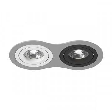 Встраиваемый светильник Lightstar Intero 16 i6290607, 2xGU10x50W, черный, серый, металл