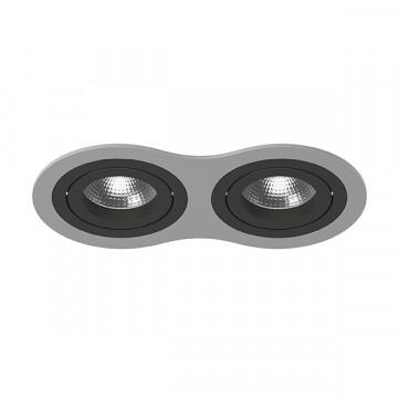 Встраиваемый светильник Lightstar Intero 16 i6290707, 2xGU10x50W, черный, серый, металл