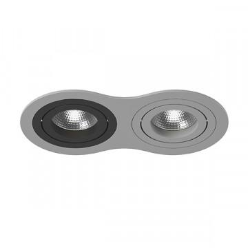 Встраиваемый светильник Lightstar Intero 16 i6290709, 2xGU10x50W, черный, серый, металл