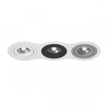 Встраиваемый светильник Lightstar Intero 16 i636060709, 3xGU10x50W, черный, серый, металл