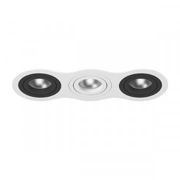 Встраиваемый светильник Lightstar Intero 16 i636070607, 3xGU10x50W, черный, черно-белый, металл
