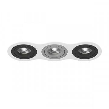 Встраиваемый светильник Lightstar Intero 16 i636070907, 3xGU10x50W, черный, металл
