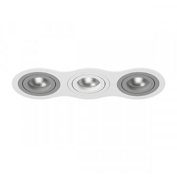 Встраиваемый светильник Lightstar Intero 16 i636090609, 3xGU10x50W, серый, металл