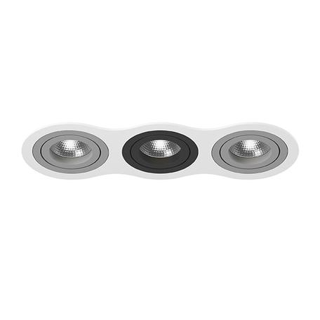 Встраиваемый светильник Lightstar Intero 16 i636090709, 3xGU10x50W, черный, серый, металл