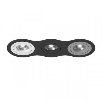 Встраиваемый светильник Lightstar Intero 16 i637060709, 3xGU10x50W, черный, металл