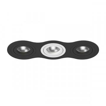 Встраиваемый светильник Lightstar Intero 16 i637070607, 3xGU10x50W, черный, черно-белый, металл