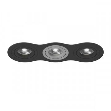 Встраиваемый светильник Lightstar Intero 16 i637070907, 3xGU10x50W, черный, металл