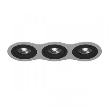Встраиваемый светильник Lightstar Intero 16 i639070707, 3xGU10x50W, черный, металл