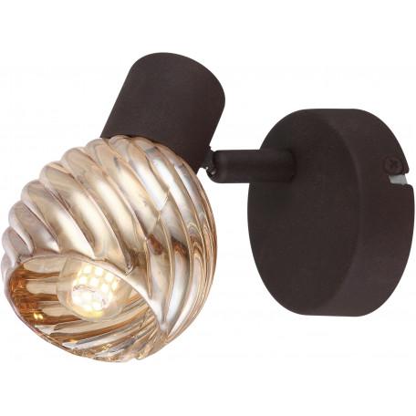 Настенный светильник с регулировкой направления света Globo Becky 54644-1O, 1xE14x40W, металл, стекло