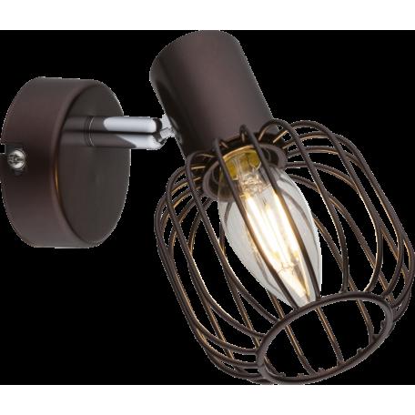 Настенный светильник с регулировкой направления света Globo Akin 54801-1, 1xE14x40W, металл