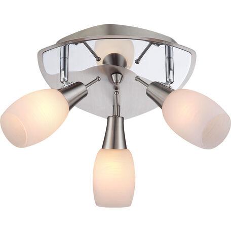 Потолочная люстра с регулировкой направления света Globo Gillian 54983-3, 3xE14x40W, металл, стекло
