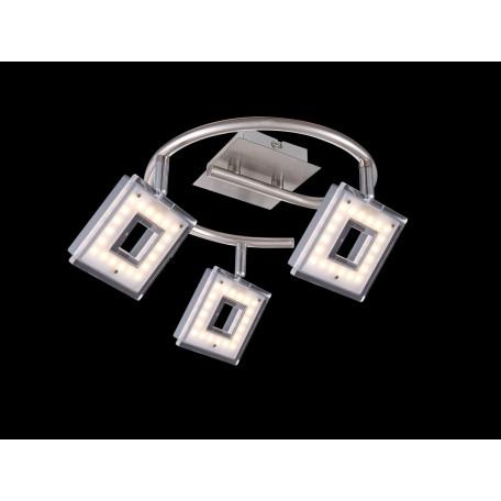 Потолочная светодиодная люстра с регулировкой направления света Globo Kerstin 56138-3, LED 12W 3200K, металл, металл с пластиком