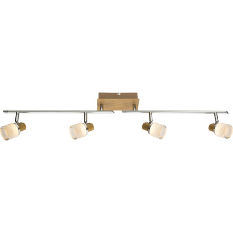 Потолочный светодиодный светильник с регулировкой направления света Globo Alonis 56000-4, металл, пластик