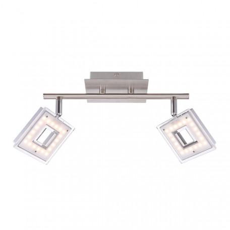 Потолочный светодиодный светильник с регулировкой направления света Globo Kerstin 56138-2, LED 6,6W 3200K, металл, металл с пластиком