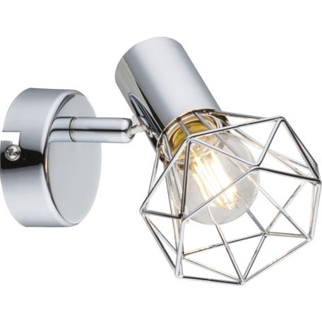Настенный светильник с регулировкой направления света Globo Xara I 54802-1, 1xE14x40W, металл