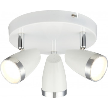 Потолочная светодиодная люстра с регулировкой направления света Globo Minou 56109-3 3000K (теплый), металл, пластик