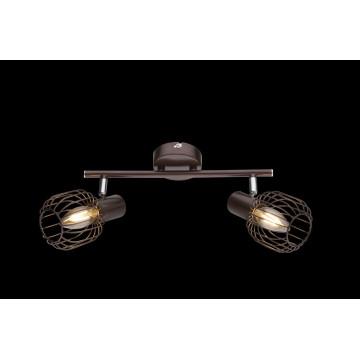 Потолочный светильник с регулировкой направления света Globo Akin 54801-2, 2xE14x40W, металл
