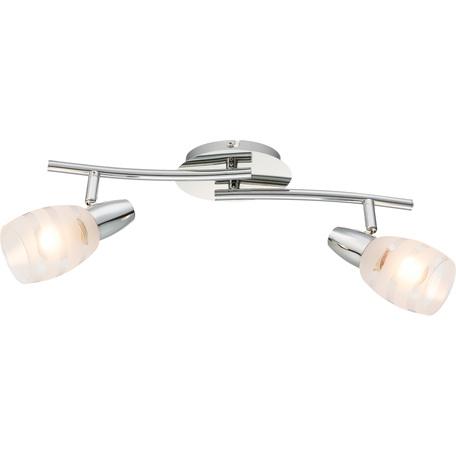 Потолочный светильник с регулировкой направления света Globo Roy 54985-2, 2xE14x40W, металл, стекло