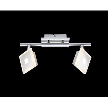 Потолочный светодиодный светильник с регулировкой направления света Globo Gerolf 56111-2, LED 10W 3000K, металл, пластик