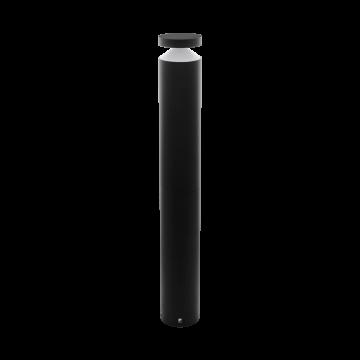 Садово-парковый светодиодный светильник Eglo Melzo 97304, IP44, LED 11W 3000K 950lm, черный, прозрачный, металл, пластик