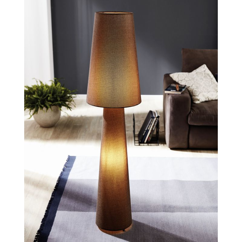 Торшер Eglo Carpara 97139, 2xE27x60W, коричневый, текстиль - фото 2