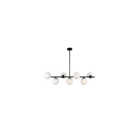 Подвесной светильник Lumina Deco Fredica LDP 6030-7 BK, 7xE27x40W, черный, белый, металл, стекло