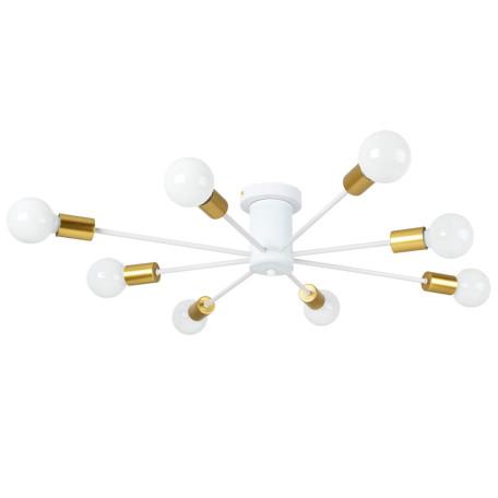 Потолочная люстра Arte Lamp Alastor A6702PL-8WH, 8xE27x40W, белый с золотом, металл