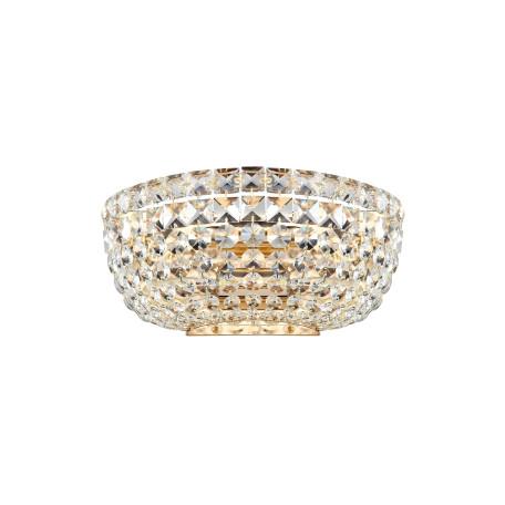 Бра Maytoni Basfor DIA100-WL-02-G (c100-wb1-g), 2xE14x60W, золото, прозрачный, металл, хрусталь