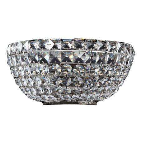 Бра Maytoni Basfor DIA100-WL-02-N (c100-wb1-n), 2xE14x60W, хром, прозрачный, металл, хрусталь