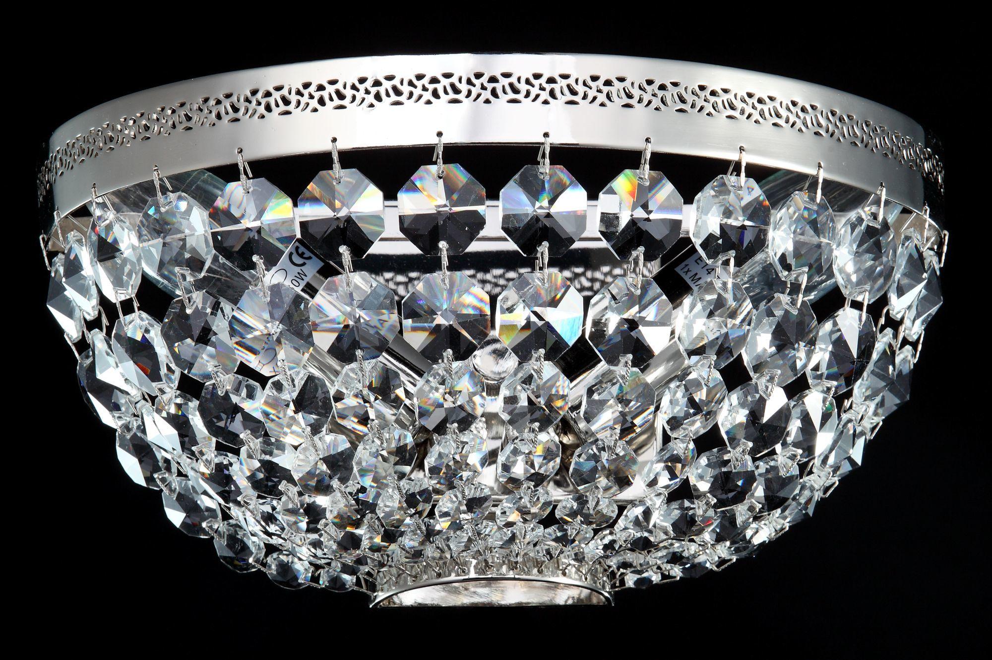 Бра Maytoni Ottilia DIA700-WL-02-N (p700-wb1-n), 2xE14x60W, никель, прозрачный, металл, хрусталь - фото 2