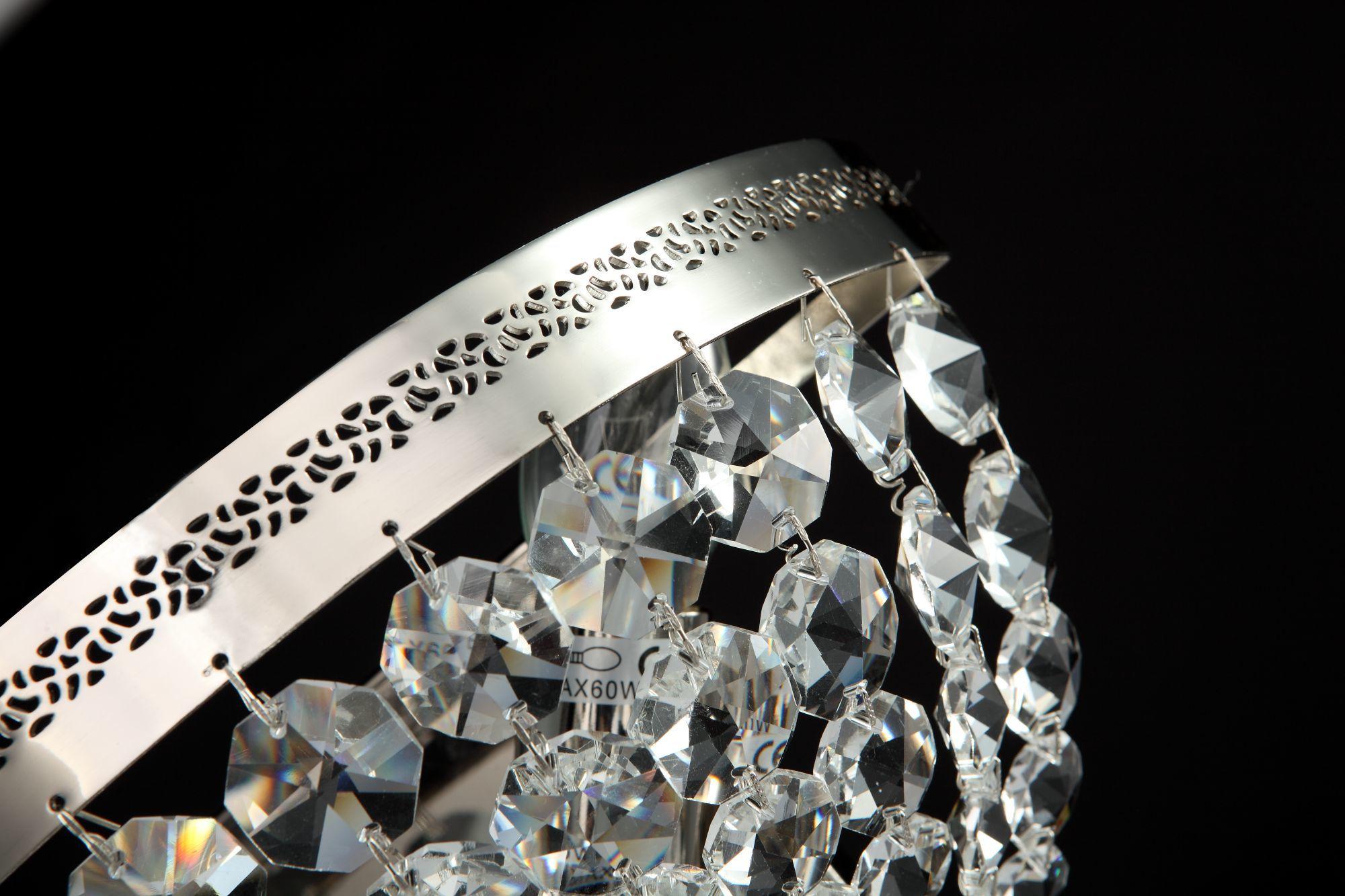 Бра Maytoni Ottilia DIA700-WL-02-N (p700-wb1-n), 2xE14x60W, никель, прозрачный, металл, хрусталь - фото 3