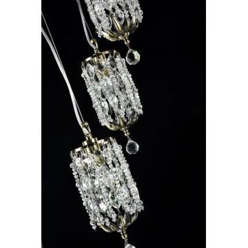 Люстра-каскад Maytoni Ronta DIA107-PL-03-R (h107-03-r), 3xE14x60W, бронза, прозрачный, металл, хрусталь - миниатюра 4