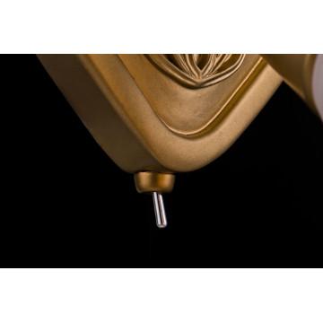 Настенный светильник с регулировкой направления света Maytoni Luther SP008-CW-01-G (ECO008-01-G), 1xE14x40W, матовое золото, матовое золото с белым, белый с матовым золотом, металл, стекло - миниатюра 5