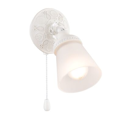 Настенный светильник с регулировкой направления света Maytoni Classic Mia SP564-CW-01-W (ECO564-01-W), 1xE14x40W, белый, металл, стекло