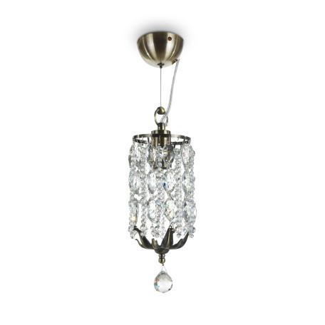 Подвесной светильник Maytoni Ronta DIA107-PL-01-R (h107-11-r), 1xE14x60W, бронза, прозрачный, металл, хрусталь