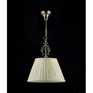 Подвесной светильник Maytoni Vesta RC331-PL-01-R (arm331-01-r), 1xE27x40W, бронза, бежевый, металл, текстиль - миниатюра 4