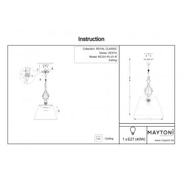 Схема с размерами Maytoni RC331-PL-01-R