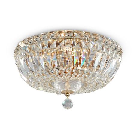 Потолочная люстра Maytoni Basfor DIA100-CL-03-G (c100-pt30-g), 3xE14x60W, золото, прозрачный, металл, хрусталь