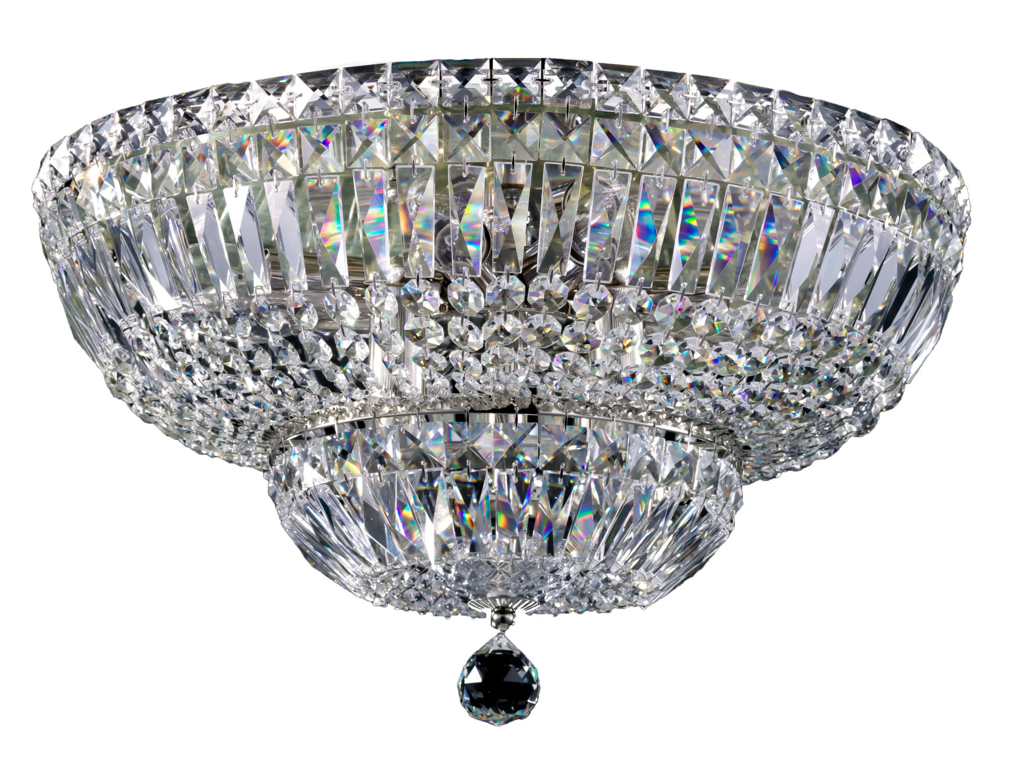 Потолочная люстра Maytoni Basfor DIA100-CL-12-N (C100-PT45-N), 12xE14x60W, никель, прозрачный, металл, хрусталь - фото 1