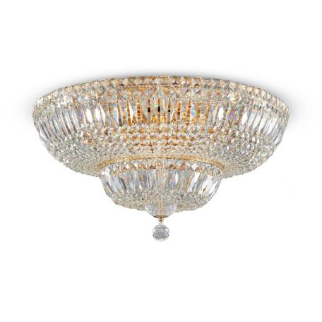 Потолочная люстра Maytoni Basfor DIA100-CL-16-G (c100-pt60-g), 16xE14x60W, золото, прозрачный, металл, хрусталь