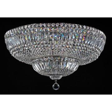 Потолочная люстра Maytoni Basfor DIA100-CL-16-N (c100-pt60-n), 16xE14x60W, хром, прозрачный, металл, хрусталь