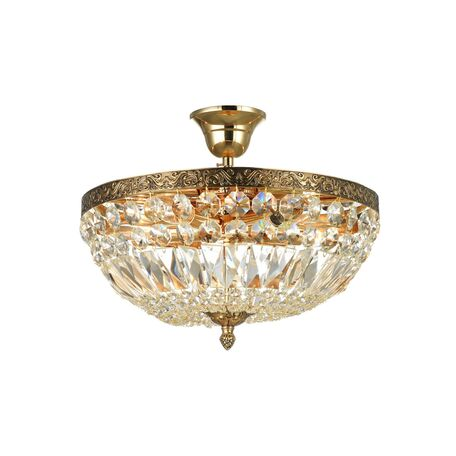 Потолочная люстра Maytoni Royal Classic Tiara DIA500-CL-30-05-G (B500-PT30-G), 5xE14x60W, черненое золото, прозрачный, металл, хрусталь