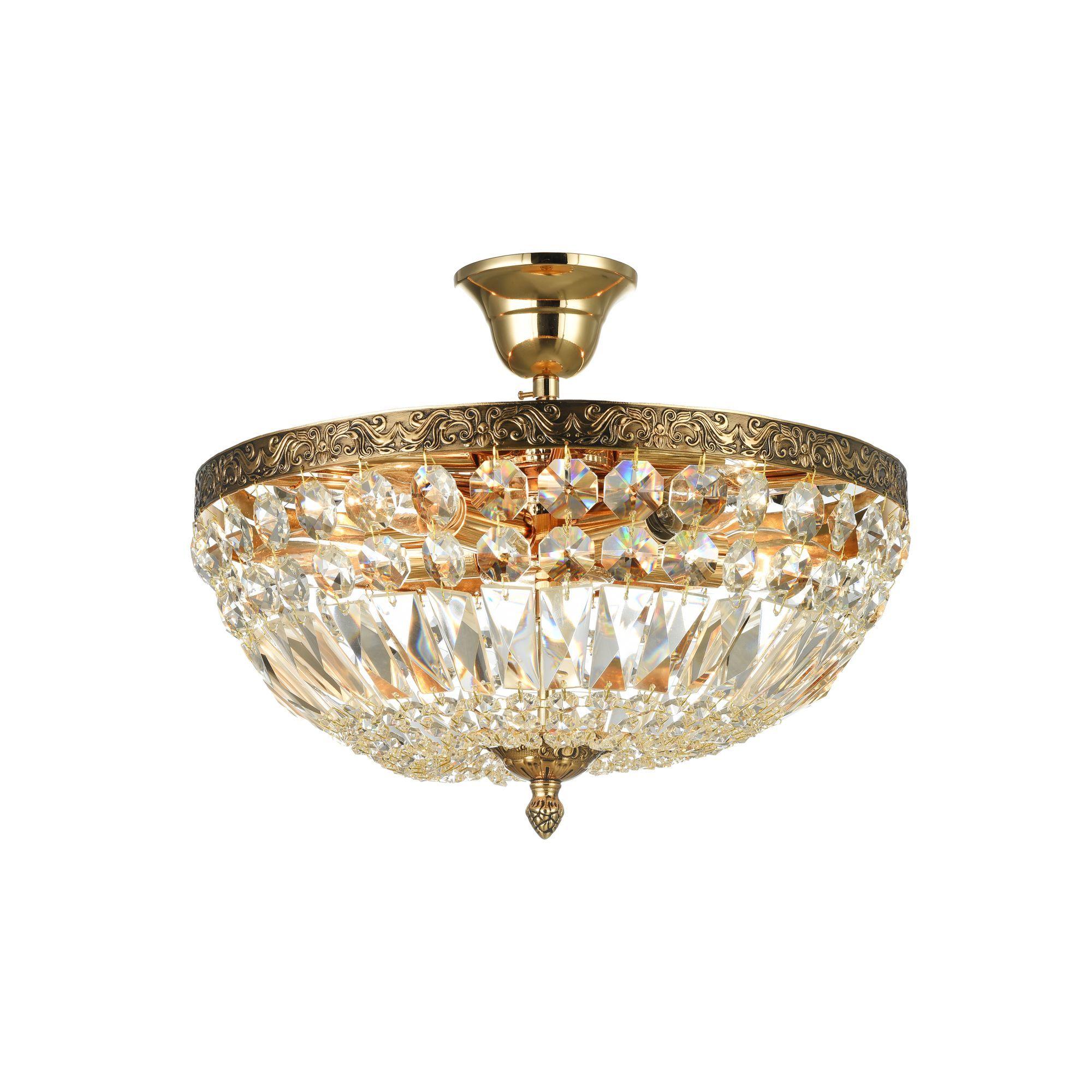 Потолочная люстра Maytoni Tiara DIA500-CL-30-05-G (b500-pt30-g), 5xE14x60W, черненое золото, прозрачный, металл, хрусталь - фото 1
