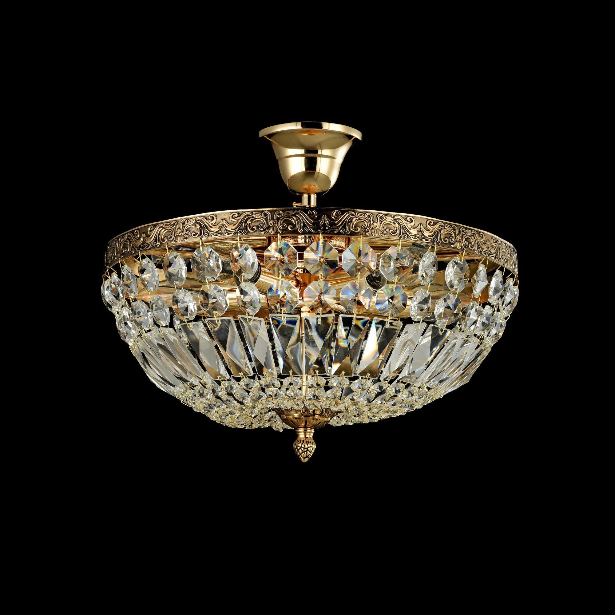Потолочная люстра Maytoni Tiara DIA500-CL-30-05-G (b500-pt30-g), 5xE14x60W, черненое золото, прозрачный, металл, хрусталь - фото 2