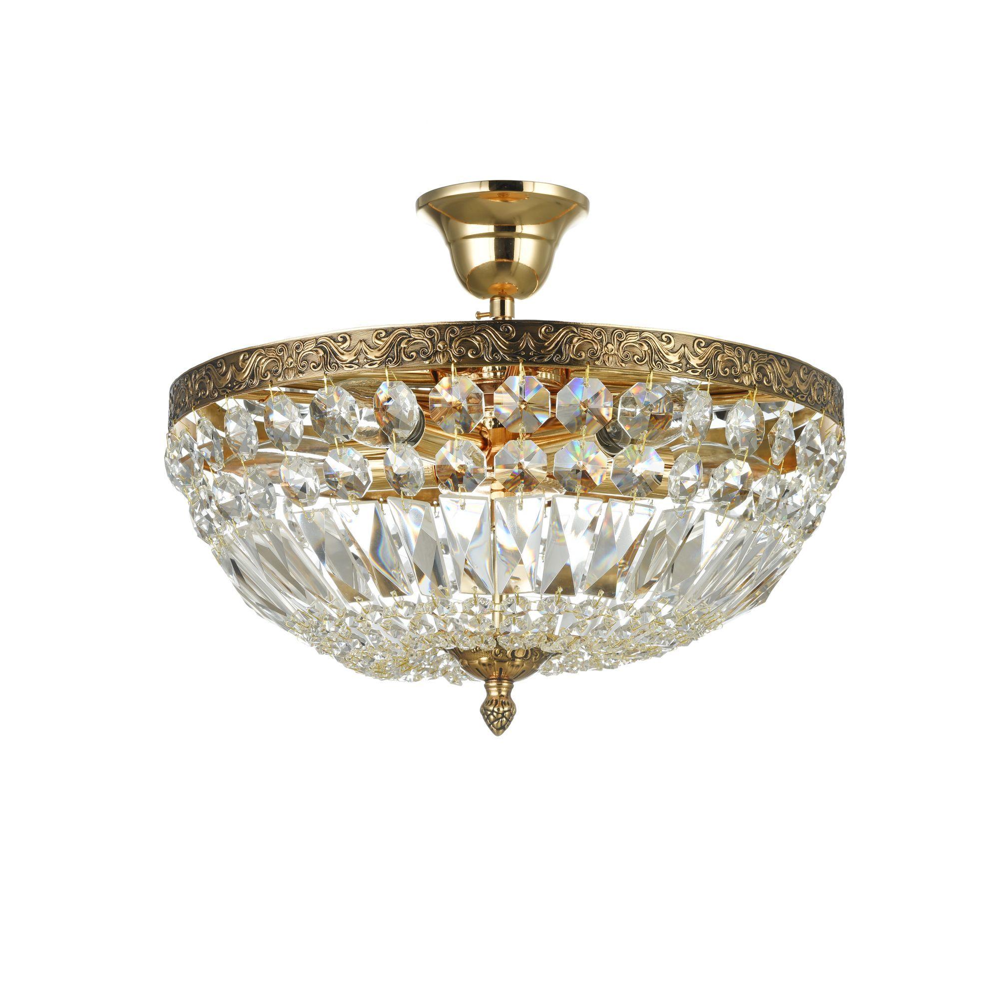 Потолочная люстра Maytoni Tiara DIA500-CL-30-05-G (b500-pt30-g), 5xE14x60W, черненое золото, прозрачный, металл, хрусталь - фото 3