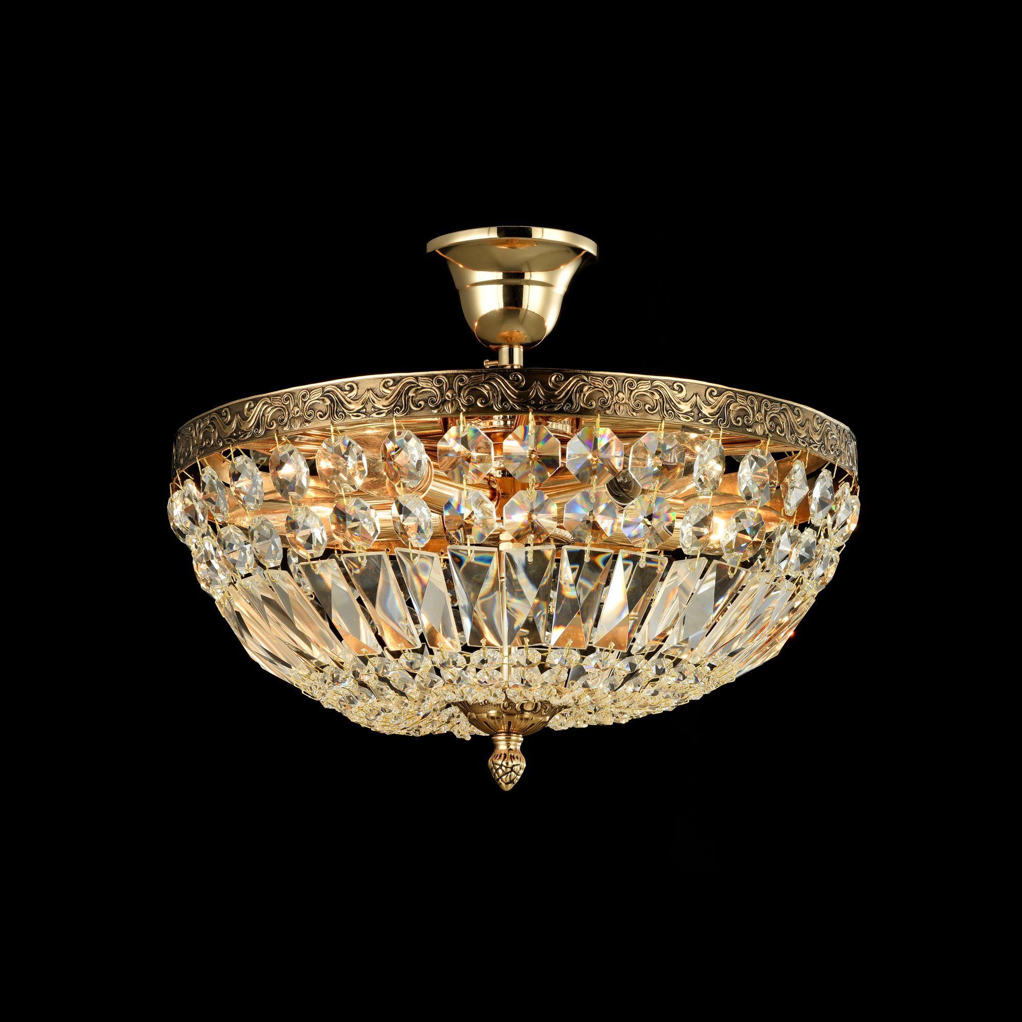 Потолочная люстра Maytoni Tiara DIA500-CL-30-05-G (b500-pt30-g), 5xE14x60W, черненое золото, прозрачный, металл, хрусталь - фото 4