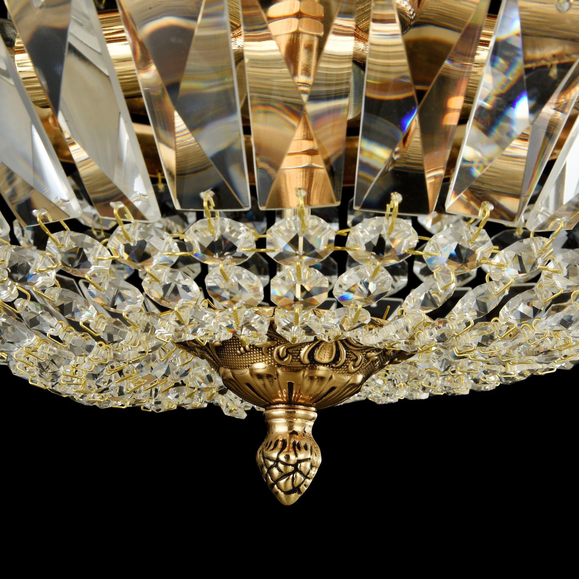 Потолочная люстра Maytoni Tiara DIA500-CL-30-05-G (b500-pt30-g), 5xE14x60W, черненое золото, прозрачный, металл, хрусталь - фото 5
