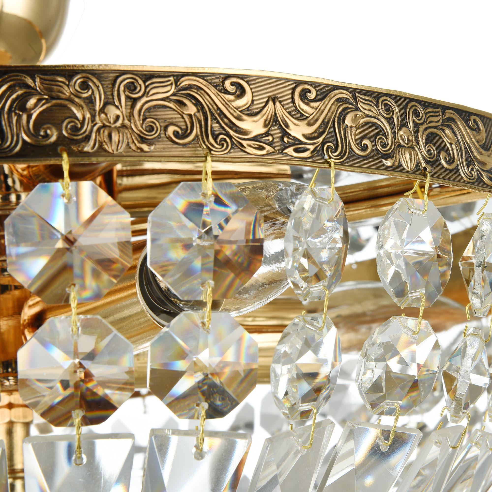 Потолочная люстра Maytoni Tiara DIA500-CL-30-05-G (b500-pt30-g), 5xE14x60W, черненое золото, прозрачный, металл, хрусталь - фото 6
